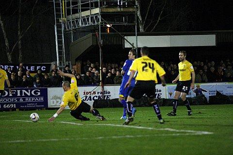 Boom: Jack Midson opens the scoring against Port Vale     SP73498