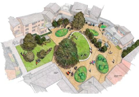 Plans: The square is part of a £1m investment