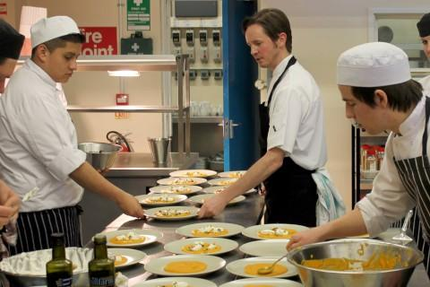 Good cooking: Richmond College students
