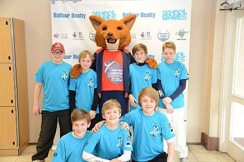 A date with Lord's: The Wandsworth boys' cricket team with Foxy, the London Youth Games mascot