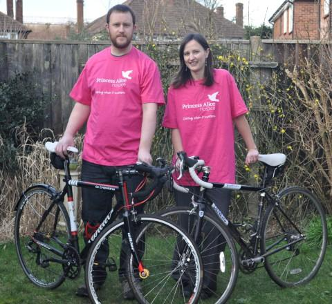 Raising funds: Elinor Guttridge and Ian Gadd