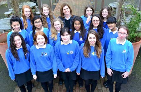 Critical: Headteacher Philippa Nunn with Waldegrave girls