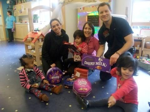Treats: Chris Hipsey and Plan B donated the chocs
