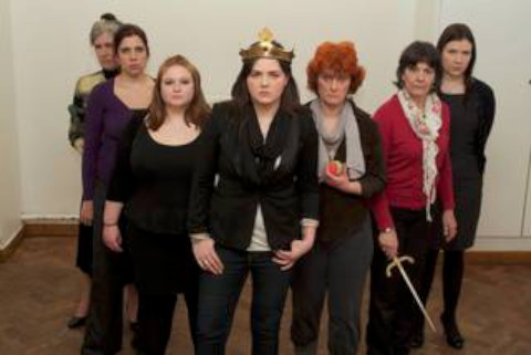 Girl power: The cast of Henry V