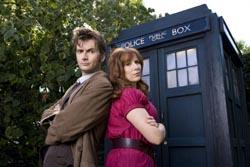 David Tennant and Catherine Tate at the Doctor and Donna pic: BBC/Adrian Rogers