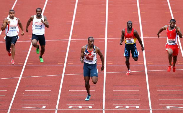 On fire: James Dasaolu defended his 60m British Indoor title on Saturday           Picture: Jan Kruger/Getty Images