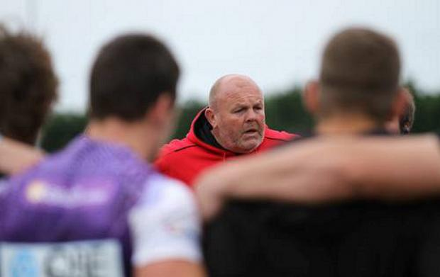 Happy-ish: London Welsh head coach Justin Burnell
