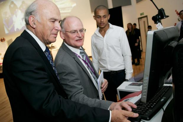 Opening: Dr Vince Cable at the Twickenham Academy opening