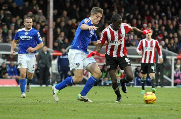 On song: Brentford striker Clayton Donaldson netted his fourth g