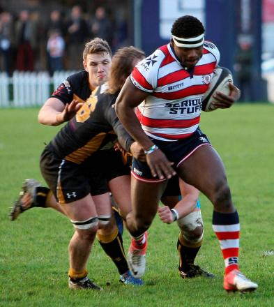 Sole survivor: London Welsh are making 12 changes to the side that beat Jersey last weekend, with Joe Ajuwa the only survivor