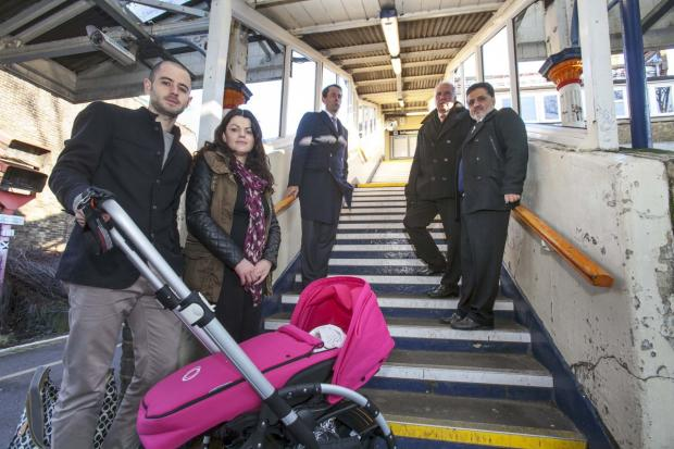 Improvement needed: The campaigners at St Margarets station