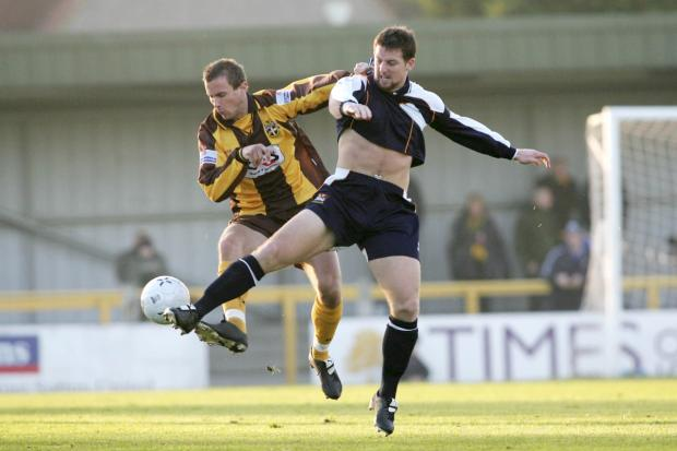 "New man: Darren Jones, right, in action for Newport County against Sutton United in 2005, has signed for the Dons in a deal boss Neal Ardley simply described as ""wow"""