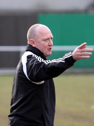 In the hot seat: Stuart Massey is the new manager at Carshalton Athletic and his emphasis  is very much on  the youth and  reinstating fast  disappearing loyalty 		        SP30062