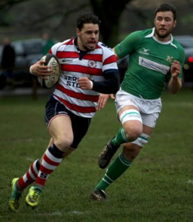 Fine form: Charlie Broughton out-strips the Wharfedale defence during Park's 45-3 on Saturday             Picture: David Whittam