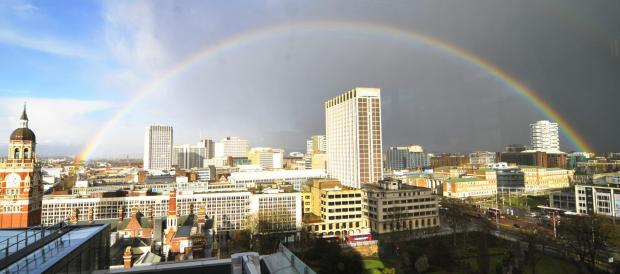 Richmond and Twickenham Times: Nice rainbow over Croydon town centre
