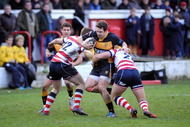 Let down: Jack Cooke, centre, scored in the first half for Esher 	 Deadlinepix SP80765