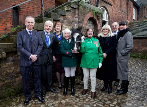 Happy days: Councillor Rita Palmer chose the Horse Rangers Association