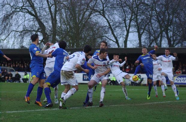 Richmond and Twickenham Times: Scramble: AFC Wimbledon rarely threatened the Rochdale goal         SP81