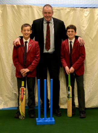 Bowled over: Angus Fraser opened the new sports hall