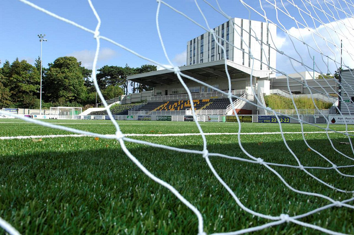 Green grass of home: Maidstone United's home games have avoided postponement due to their 3G artificial pitch          Picture