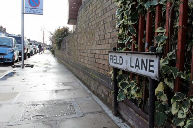 Field Lane: Where the alleged fatal punch was thrown