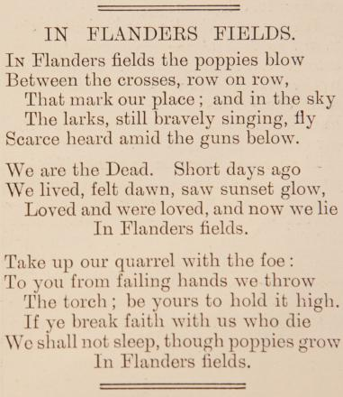 World War One: The Poppy Factory, and this poem, are one part of Richmond's war heritage