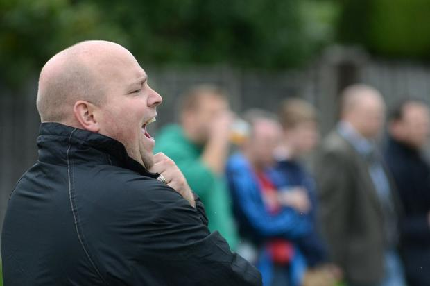 Fuming: Jeff Parsons was not a happy coach after Sutton & Epsom's defeat to Cobham               SP79577