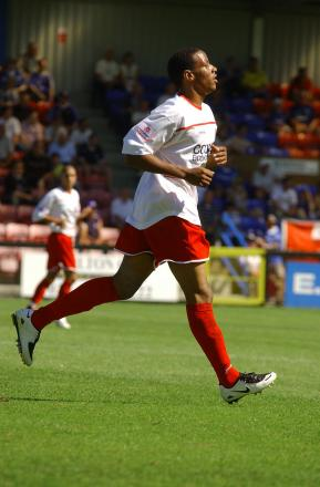 Steel: Tony Sinclair, in his Welling United days, has added much-needed strength to Carshalton Athletic's back four