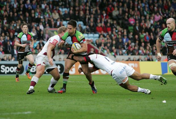 Richmond and Twickenham Times: Staying put: Quins fly half Ben Botica is shaping up as a long-term successor to Nick Evans