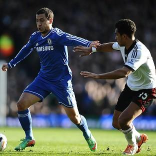 Eden Hazard, left, was Chelsea's best player in their victory over Fulham