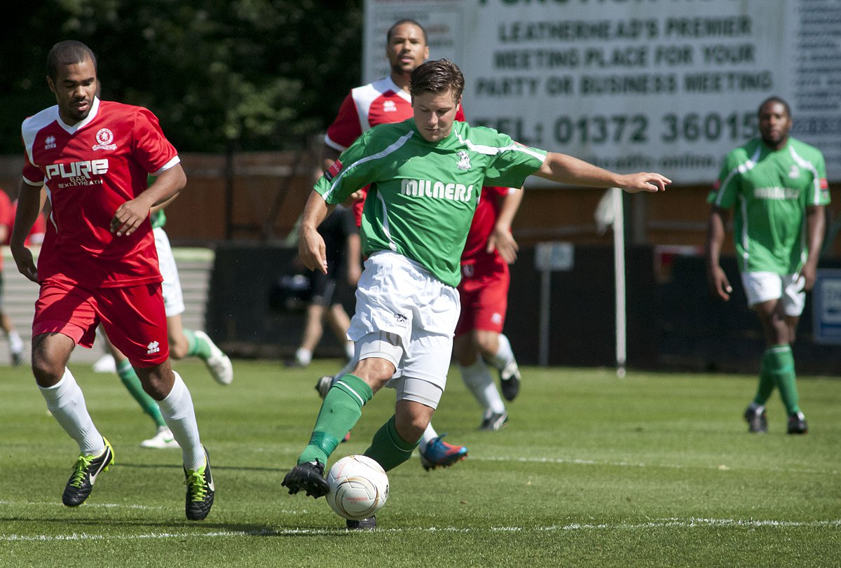 Opener: Kev Terry got Leatherhead's first goal against Ram