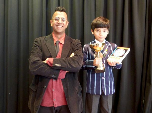 Wayland Lo: Got his award off Dr Simon Singh