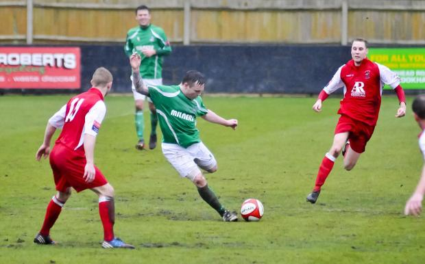 Richmond and Twickenham Times: Old friends: Former Leatherhead favourite Tommy Hutchings scored two and set up one as Merstham dented the Tanners automatic promotion hopes