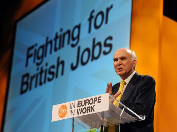 Vince Cable: Part of an expert group giving their advice on business