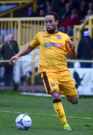 Opener: Damian Scannell got Sutton United off and running against Farnborough on Saturday          SP80757