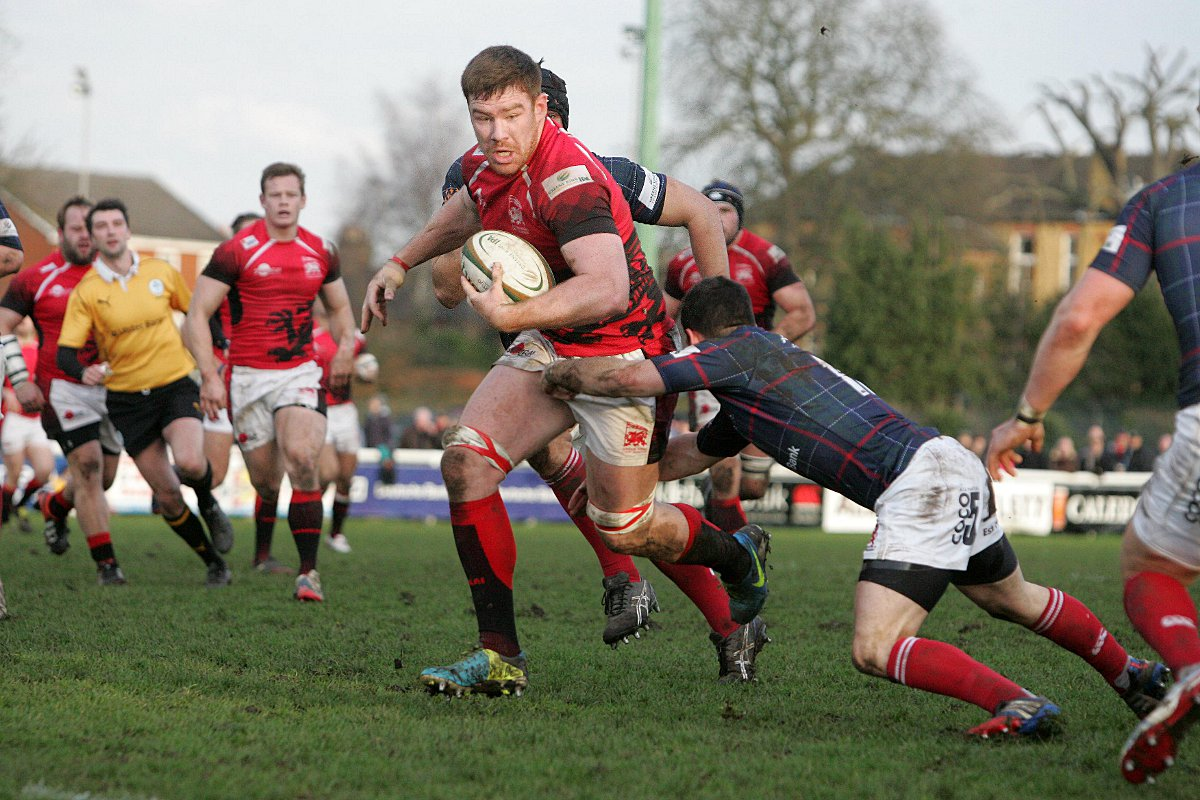 Winning return: London Welsh's Ollie Sted