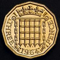 Richmond and Twickenham Times: The reverse side of a 12-sided three-pence piece which was in circulation from 1937 until decimalisation in 1971 (PA/HM Treasury)