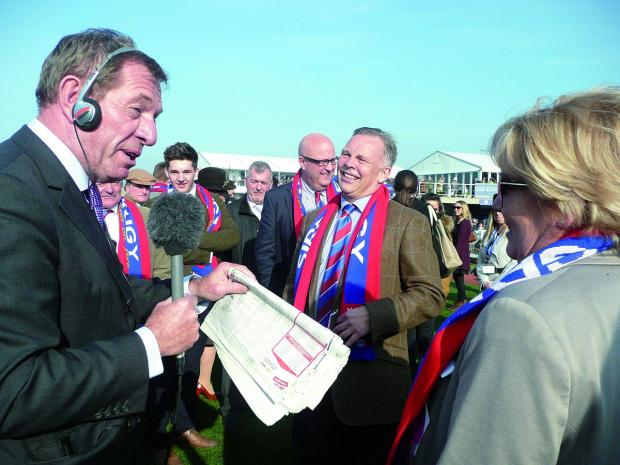 Richmond and Twickenham Times: Die hard Crystal Palace supporter Steve Preston is Sire De Grugy's owner