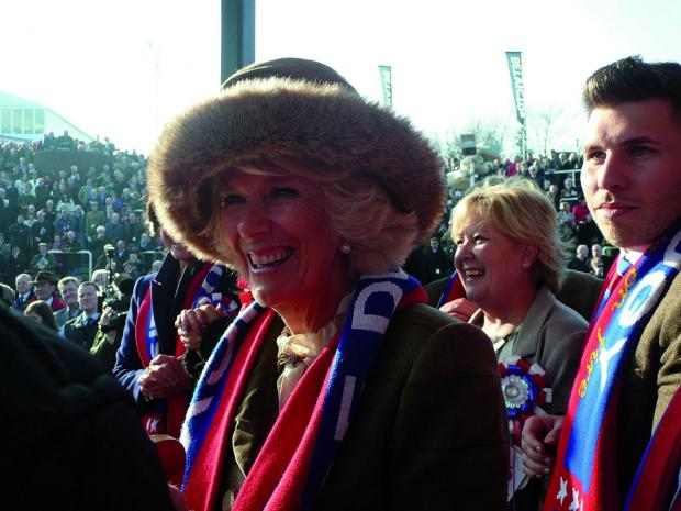 Richmond and Twickenham Times: The Duchess of Cornwall was given one of the Sire De Grugy scarves