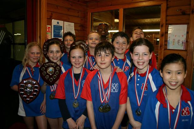 Winners: Sutton & Cheam Swimming Club were on song at the Borough Primary School Championships