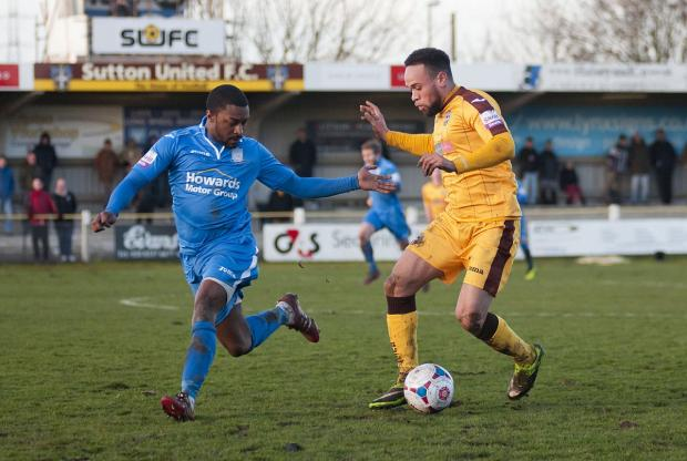 Determined: Winger Damien Scannell says Sutton United are not settling for second best this season