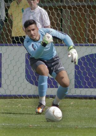 Beaten: Tanners goalkeeper Deren Ibrahim