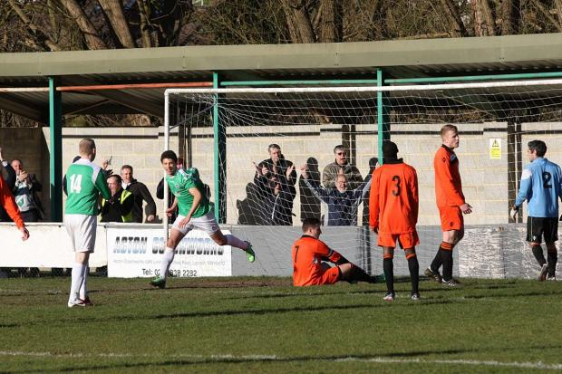 Richmond and Twickenham Times: Goal man: Taylor Smith bags the sixth Leafe strike on Saturday