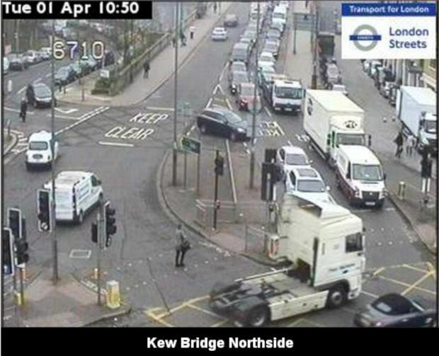TfL: The cameras at Kew Bridge after the accident