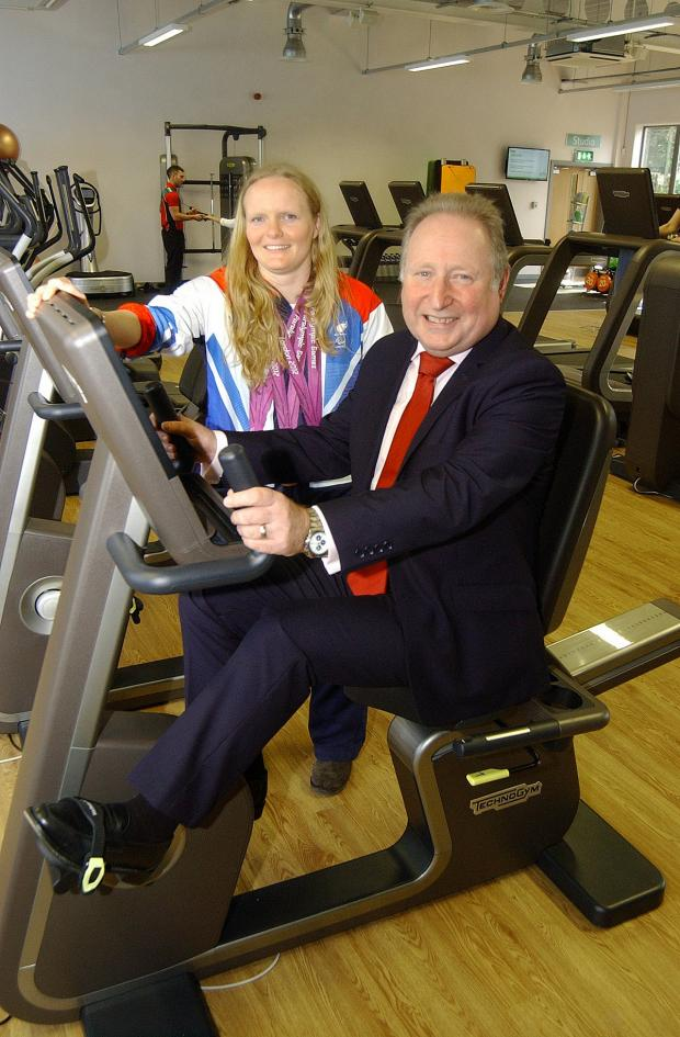 Richmond and Twickenham Times: Susie Rodgers and Cllr Peter Kotz at Charlton Lido's relaunch