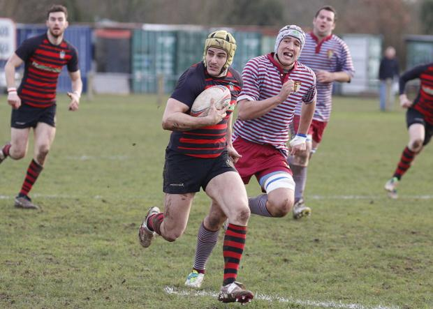 Leading from the front: Twickenham skipper Richard Moses 	SP81888
