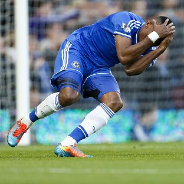 Richmond and Twickenham Times: Samuel Eto'o reacts after a missed shot during the defeat to Sunderland