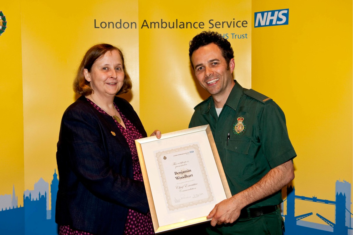 Paramedic honoured for efforts helping flood victims