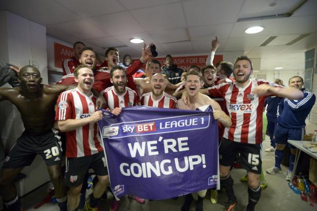 Happy, happy day: Brentford are g