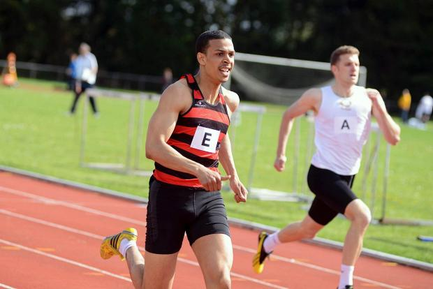Speed merchant: Herne Hill Harriers Peter Phillips, and his relay clubmates, clocked a club record in the 4x400m relay